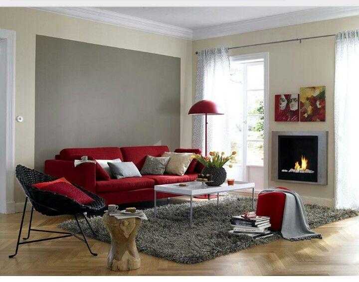 Rotes Sofa kombinieren …