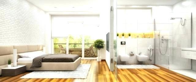 Schlafzimmer Bad Kombination Kombiniert Ideen Wohnzimmer