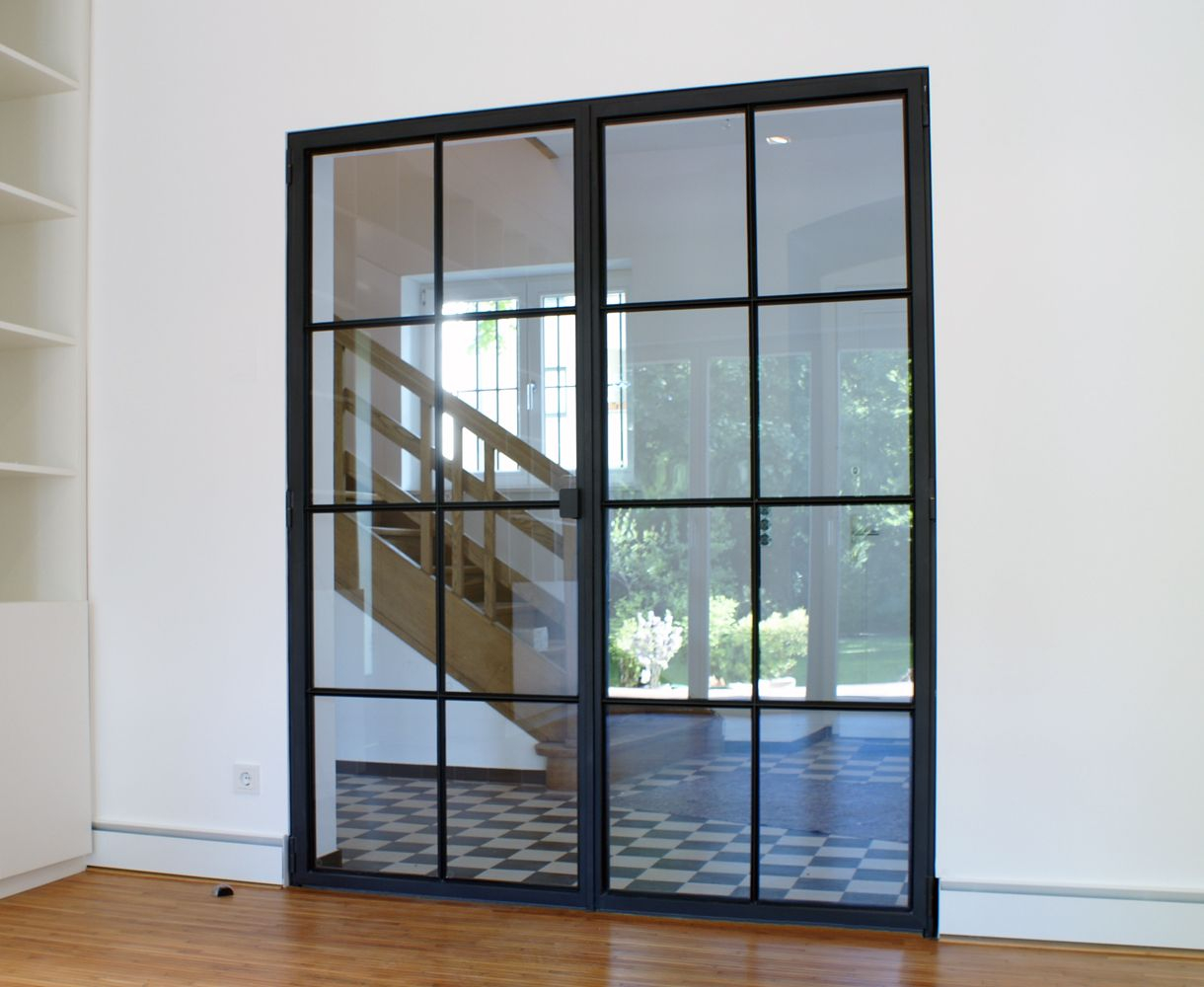 Schlanke Stahl Glas Tür crittal in 2019