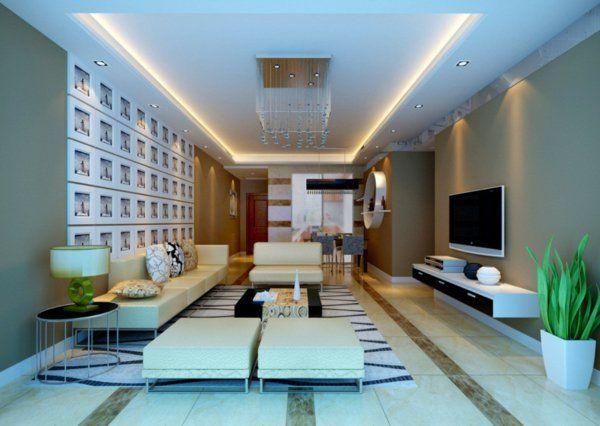 schöne indirekte beleuchtung im wohnzimmer