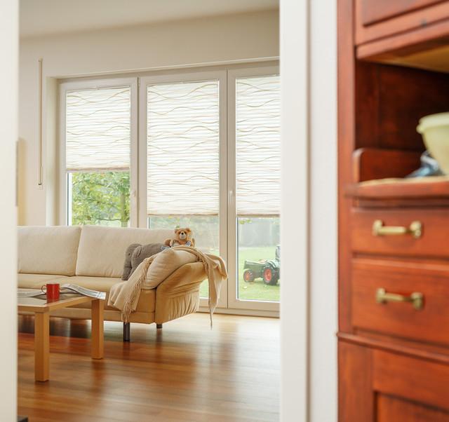 schöne Plissees für´s Wohnzimmer Modern Wohnzimmer