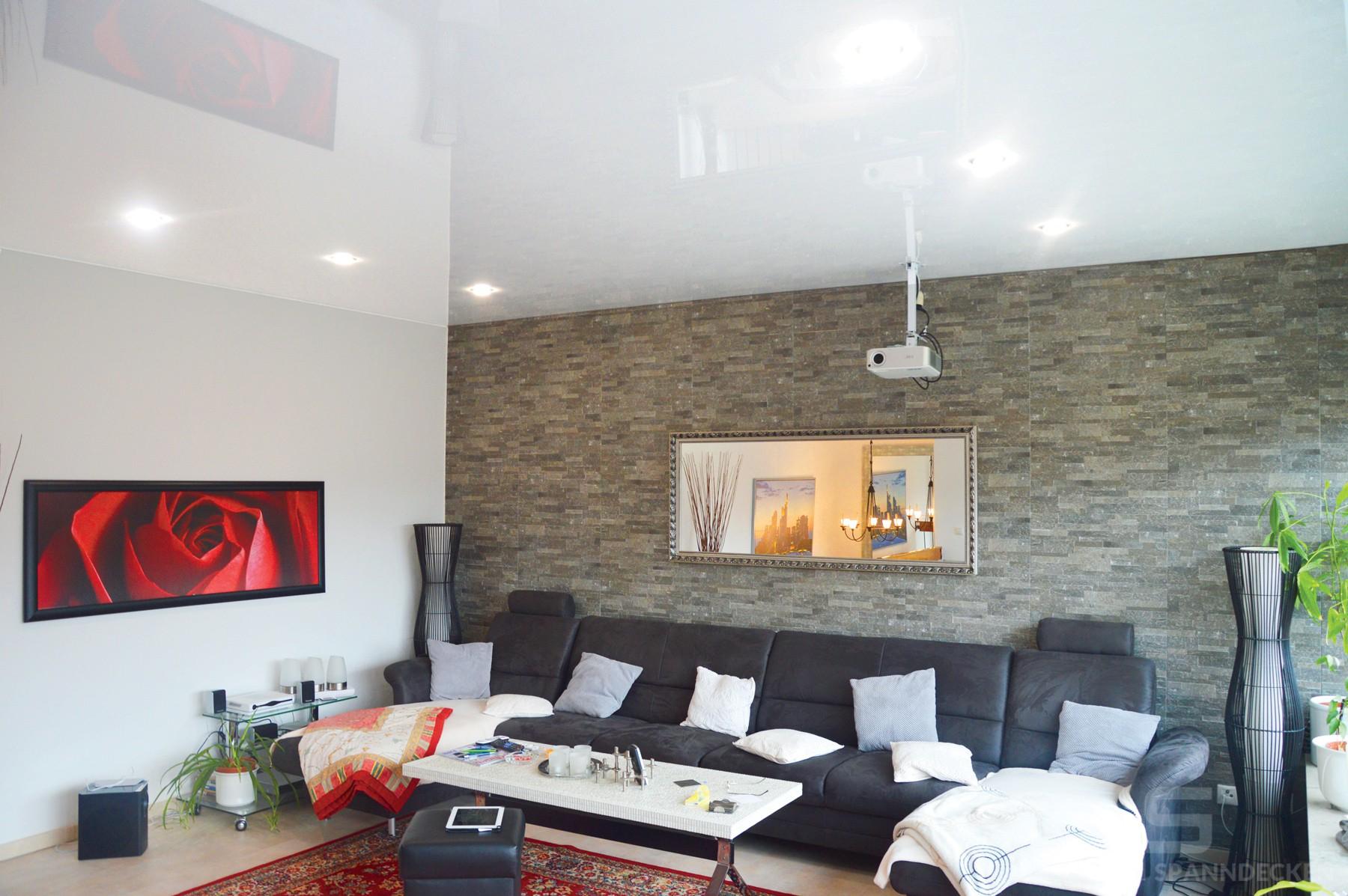 Spanndecke für das Wohnzimmer