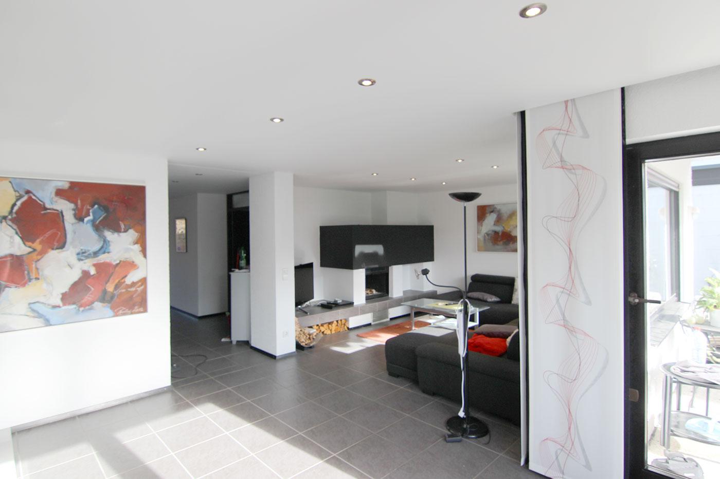 Spanndecke im Wohnzimmer – Talheim – Spanndeckenstudio