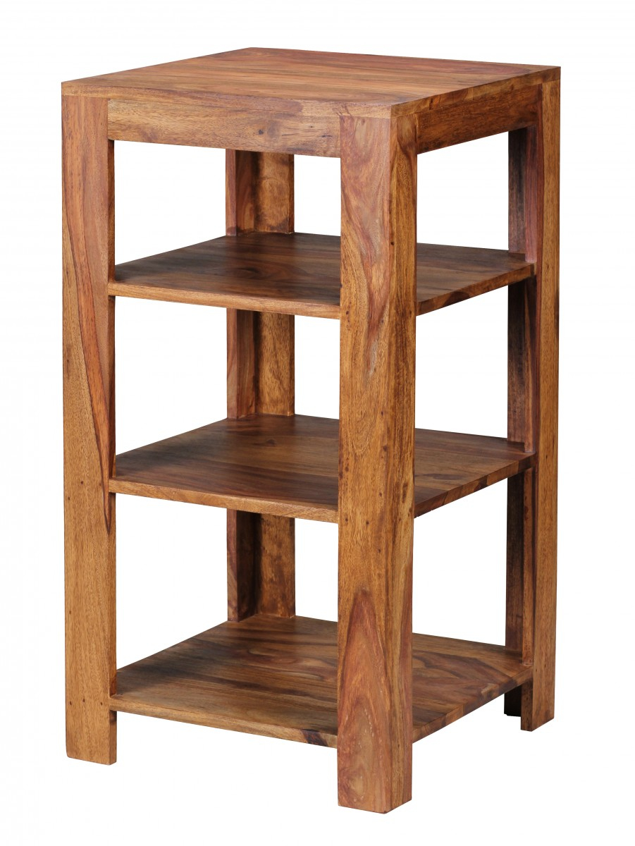Standregal MUMBAI Massiv Holz Sheesham 83 cm Wohnzimmer