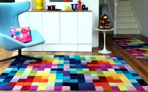 teppich wohnzimmer bunt
