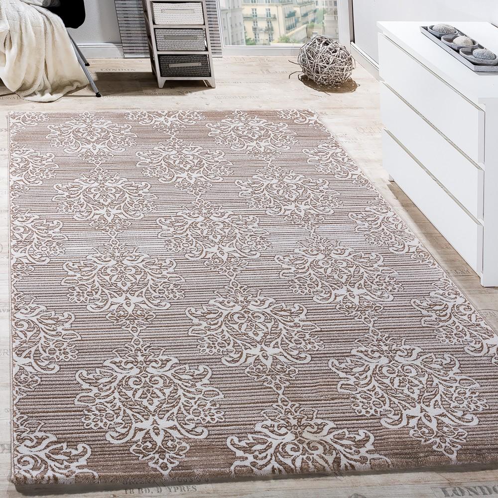 Teppich Wohnzimmer Klassisch Floral Muster Ornament
