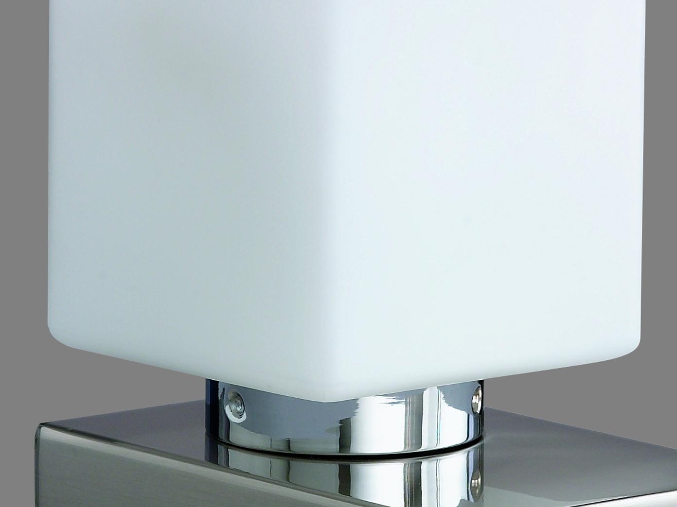 Tischlampe mit Dimmer Touchdimmer Glas weiß Lampe