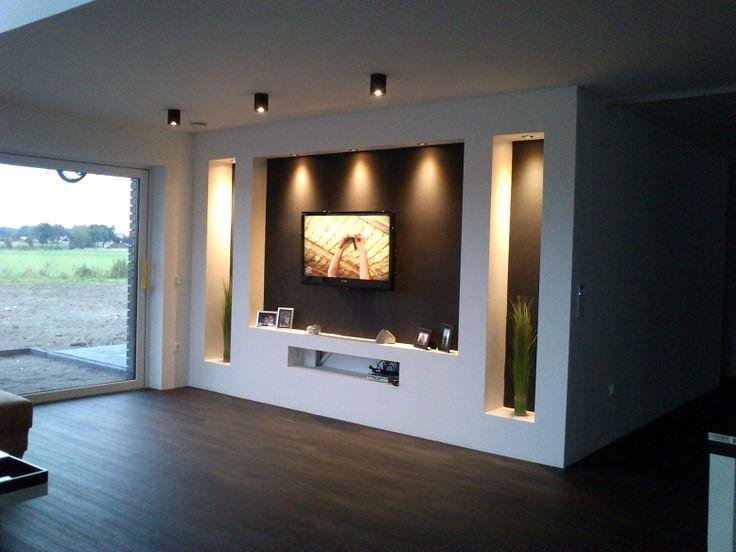 Tv Wand Bauen Luxuriose Ausstattung Tv Mobel Holz Nt07
