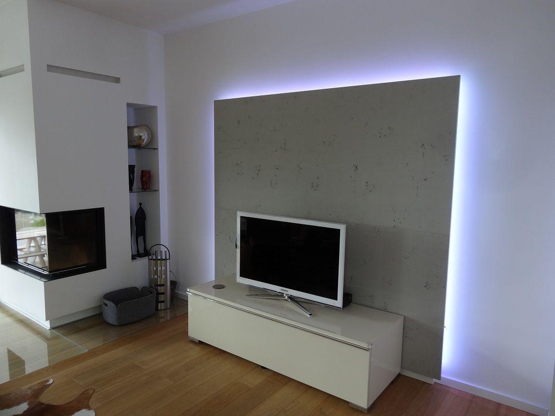TVSchrank Wohnzimmer Rückwand mit LED von Lauer DIE
