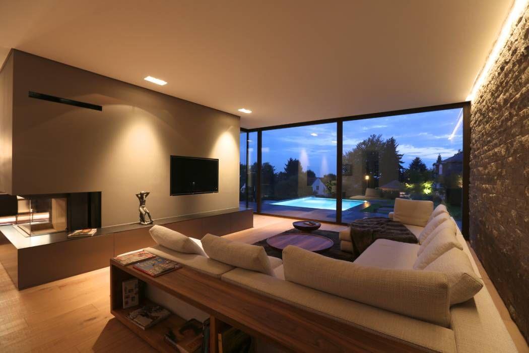 Villa p2 wohnzimmer von dg d architekten