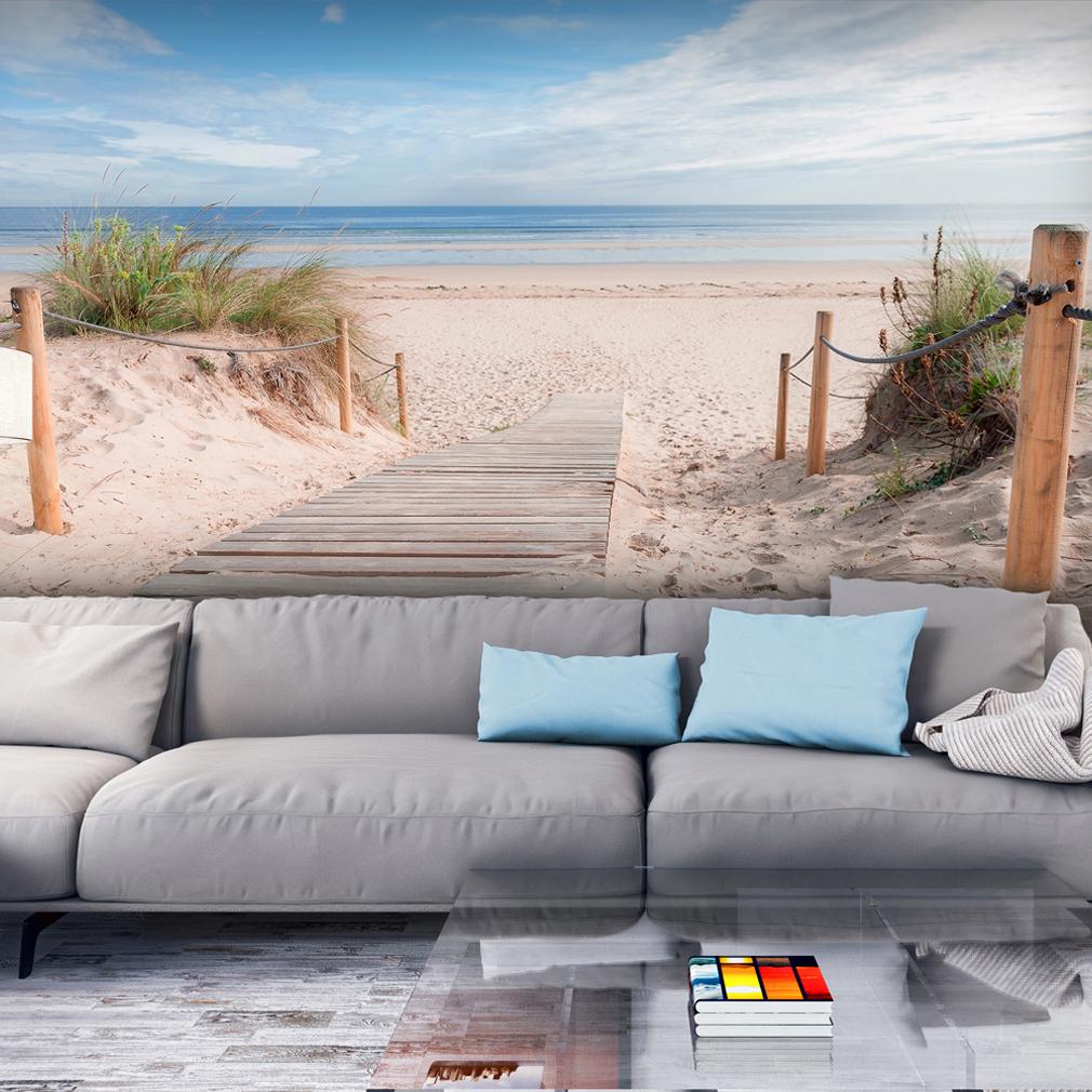 VLIES FOTOTAPETE Strand Meer Himmel sepia TAPETE