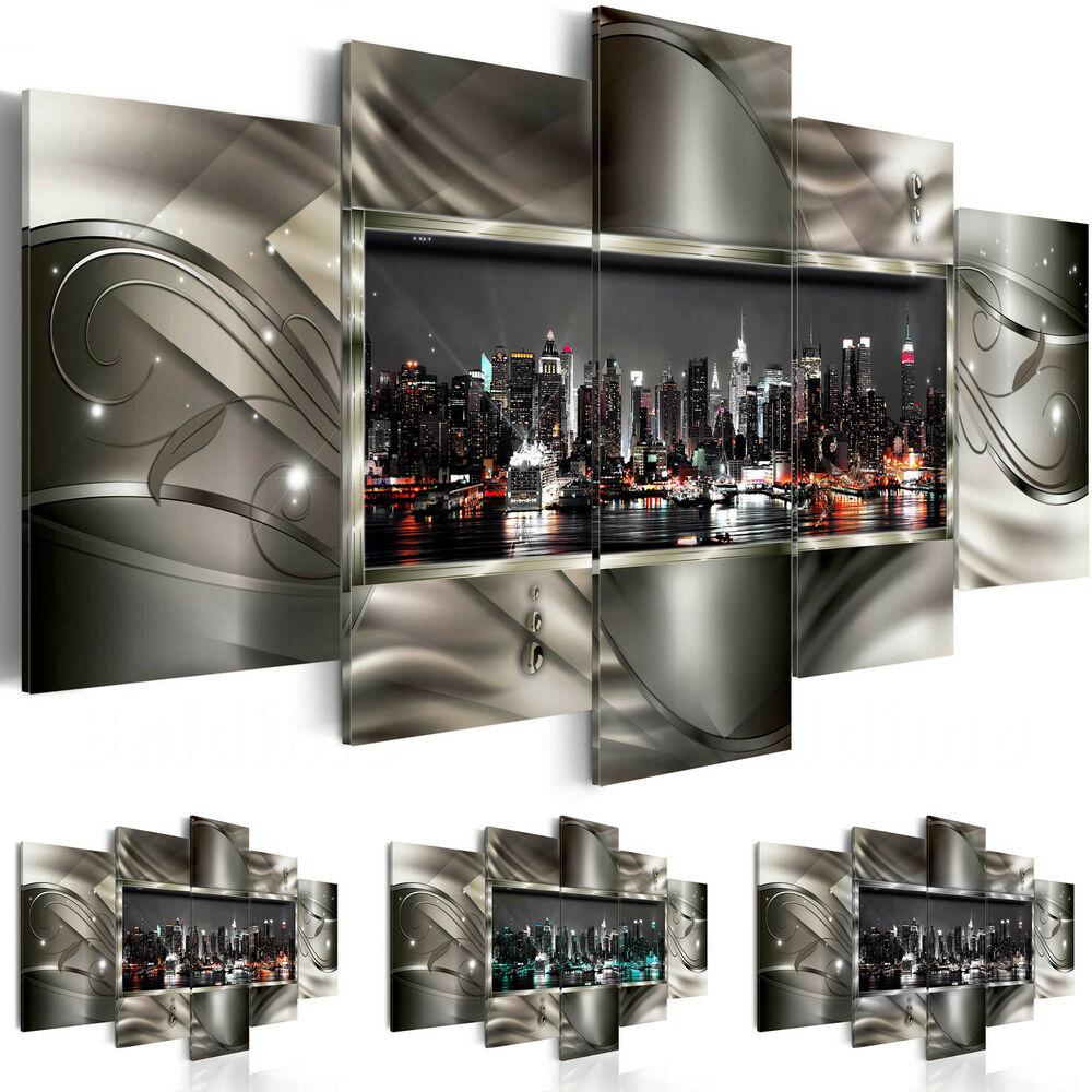 Wandbilder xxl New York Skyline Abstrakt Leinwand Bilder