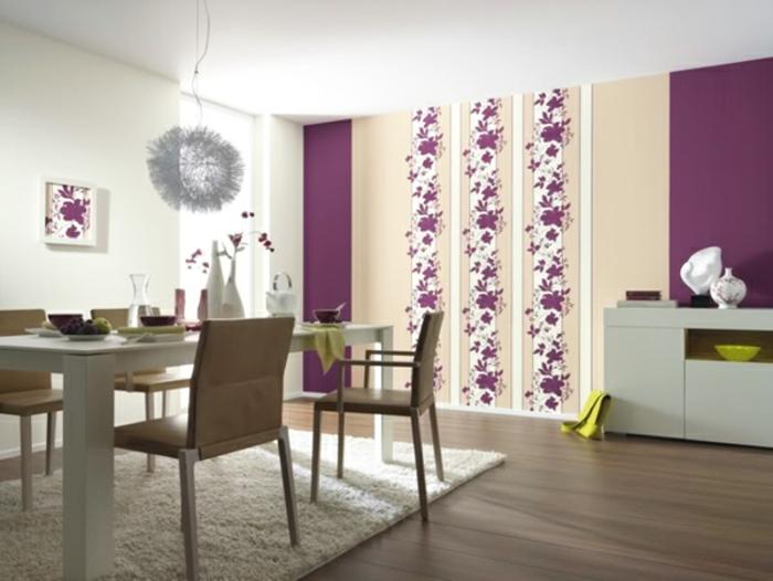 Wanddeko Ideen mit floralen Motiven