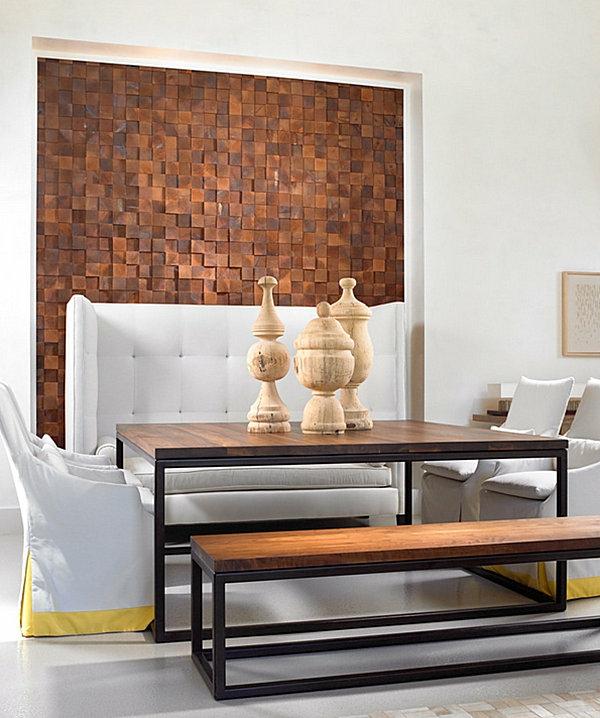Wanddeko Wanddeko mit Holz Wandgestaltung und Wall Art Ideen