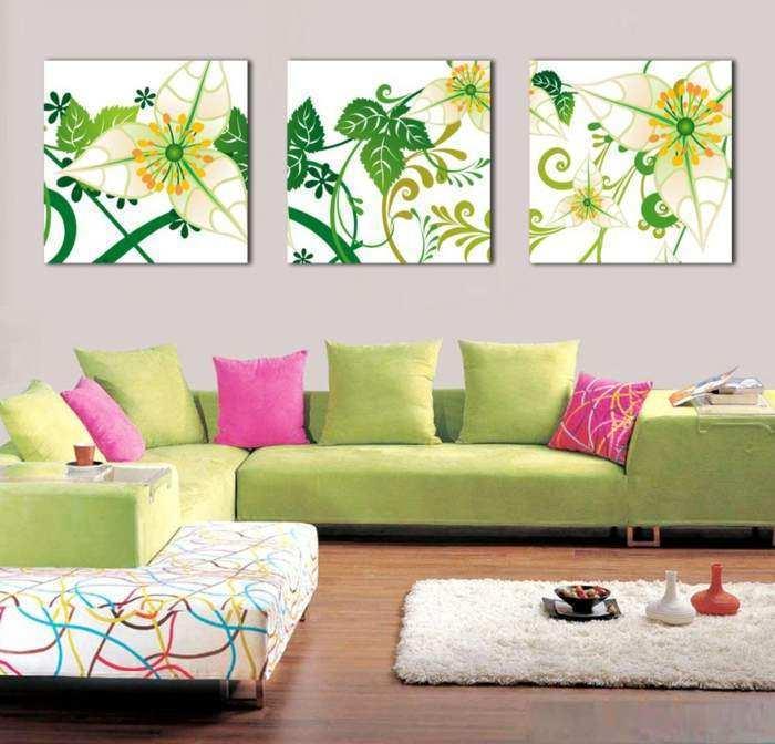 Wanddeko Wohnzimmer Ideen uyudesign