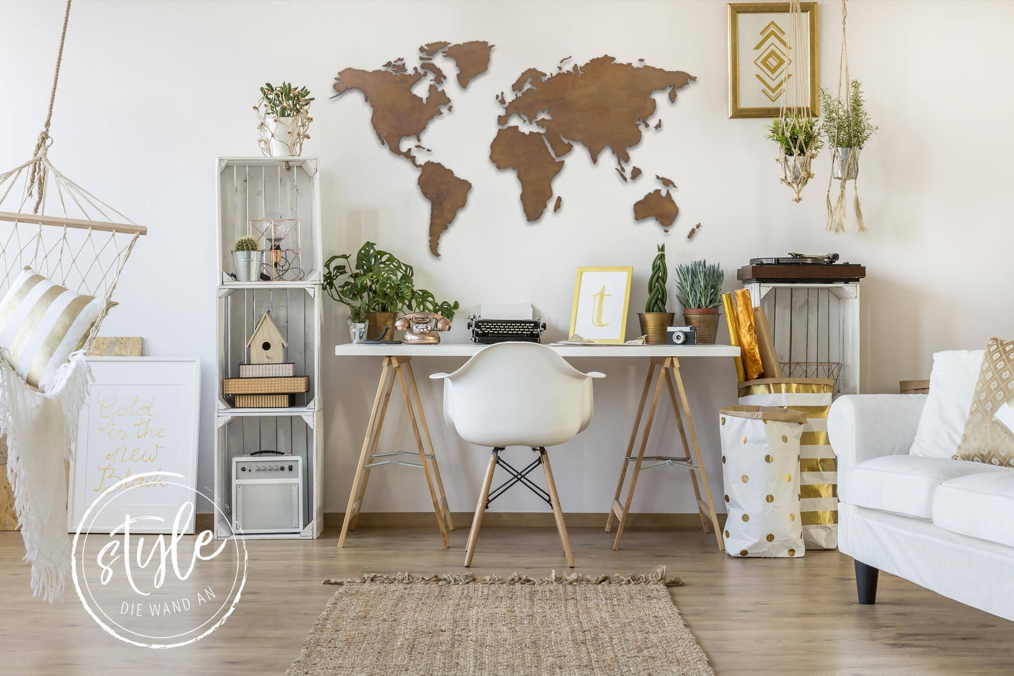 Wanddekoration • Wandbilder der Weltkarte