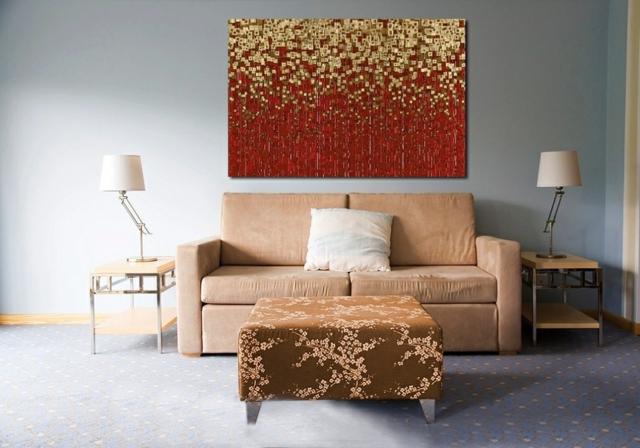 Wanddekoration Ideen – moderne Kunst als Akzent