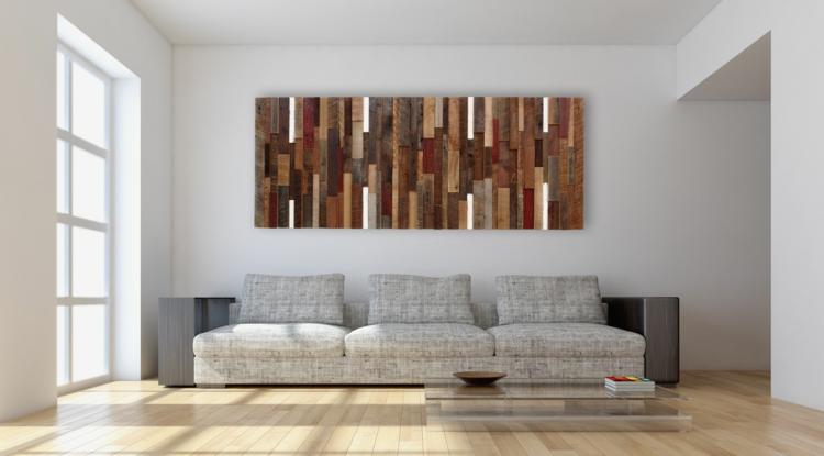 Wanddekoration mit Holz 32 Wandverkleidungen & Akzente
