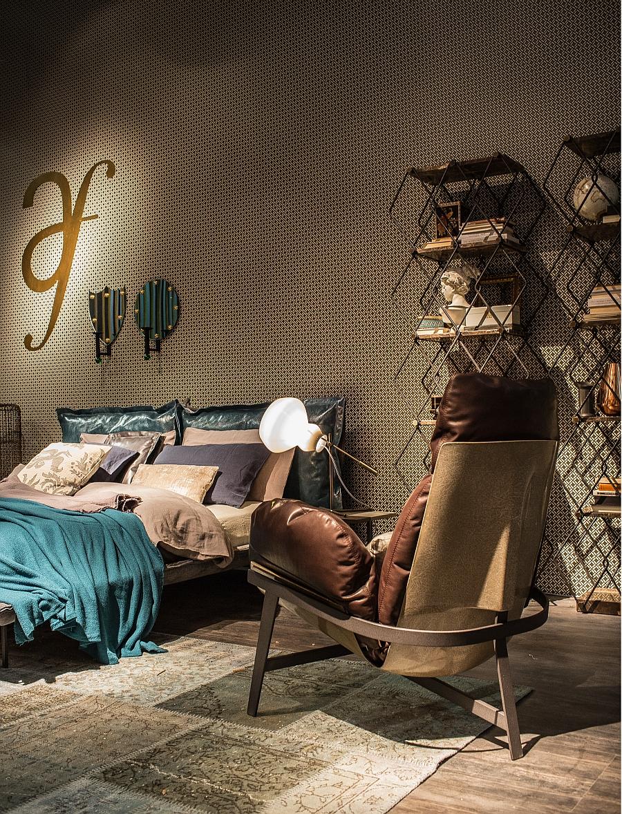 Wanddekoration Wohnzimmer Mit edlem Glam Stil