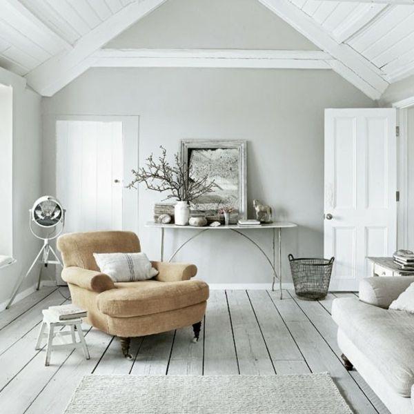 wandfarbe grau wohnzimmer modern gestalten spiegel und