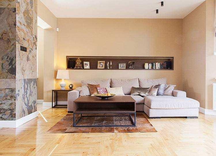 Wandgestaltung Wohnzimmer Farbe WaterSoftnerGuide