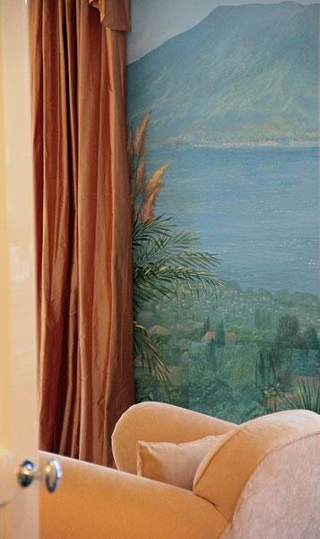 Wandmalerei Illusionsmalerei Wohnraum Wohnzimmer
