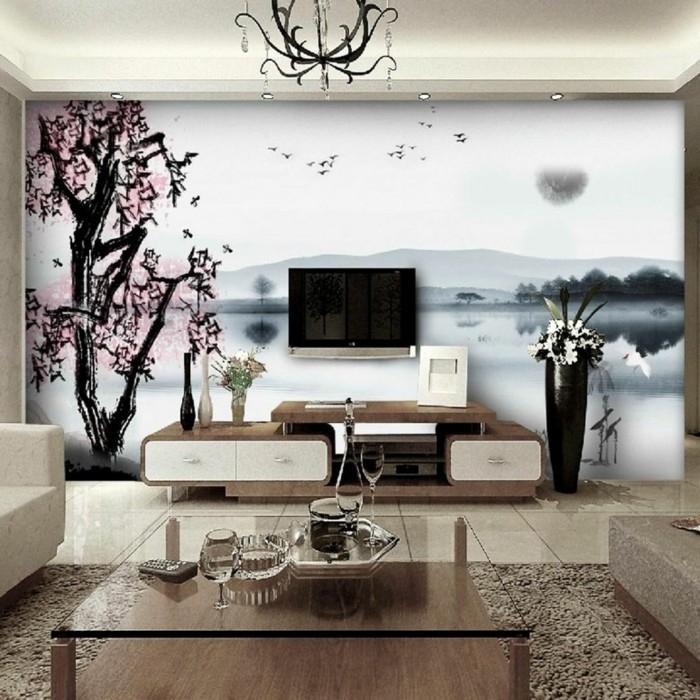 Wandmalerei macht das Wohnzimmer noch wohnlicher 30
