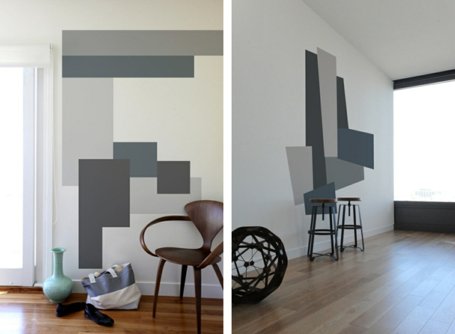Wandmuster Ideen – Geometrische Formen streichen