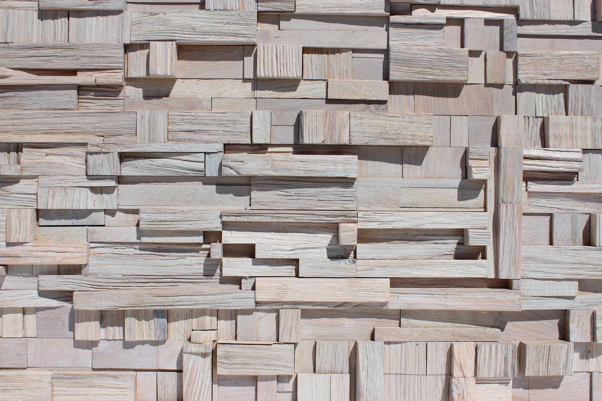 Wandpaneele Holz Spalteiche Weiß Herbsteiche