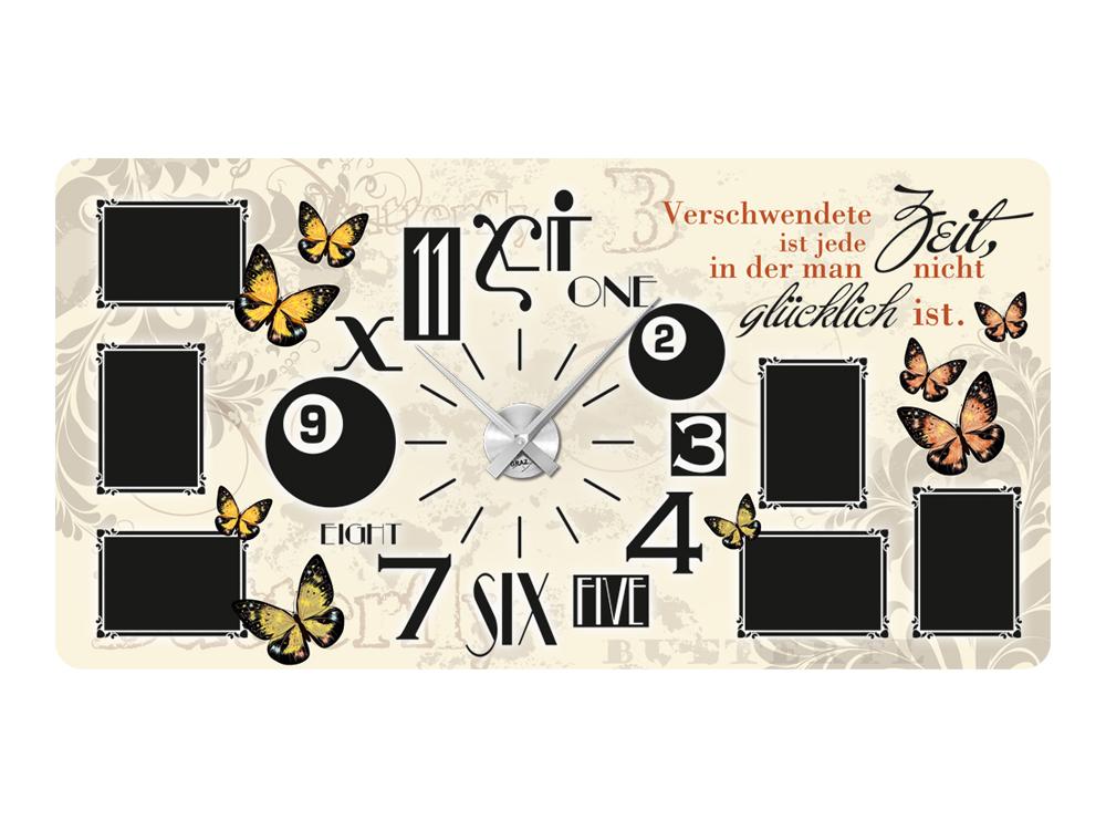 Wandsticker Uhr Bilderrahmen Wandtattoo für Wohnzimmer