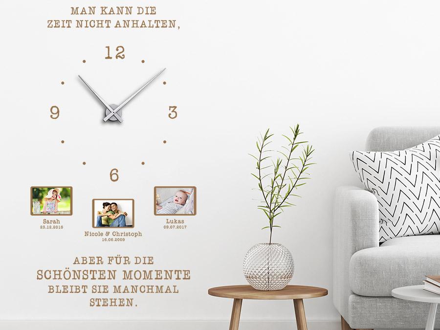 Wandtattoo Uhr Für schönsten Momente
