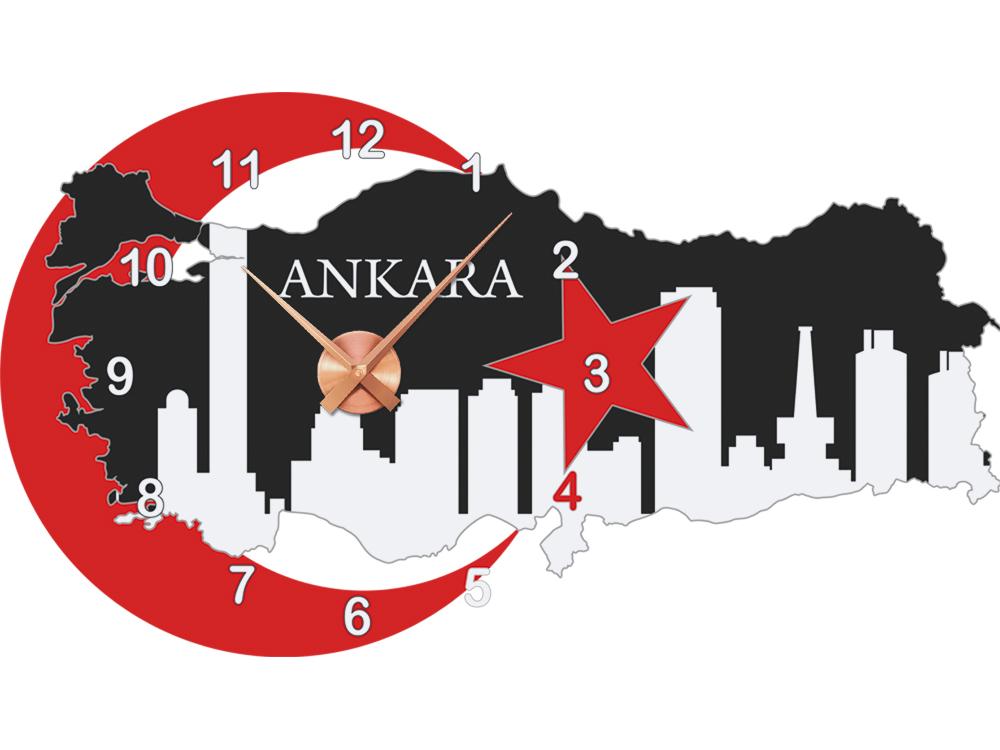 Wandticker Uhr Wanduhr inkl Uhrwerk für Wohnzimmer Spruch