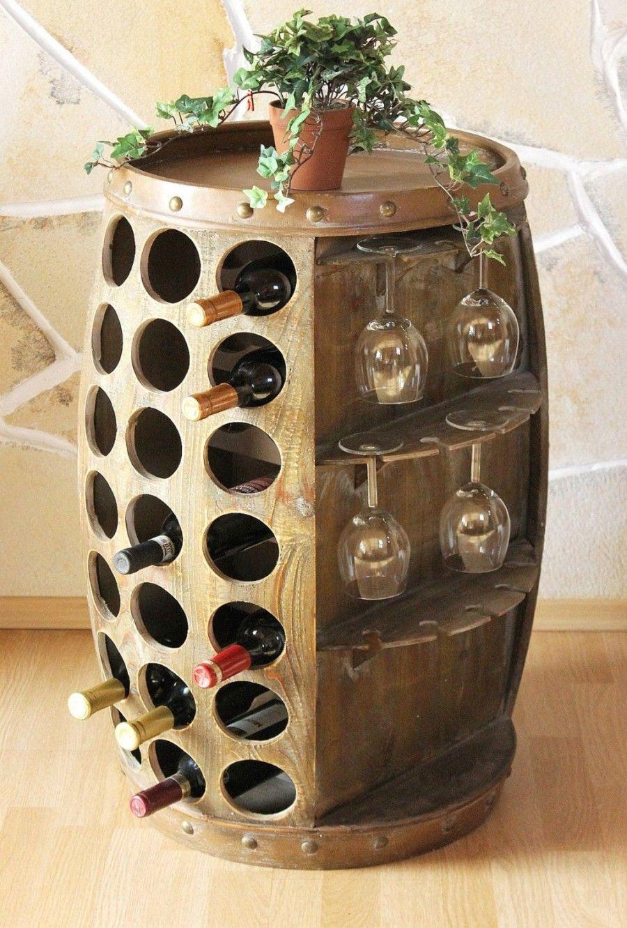Weinregal Weinfass Küche