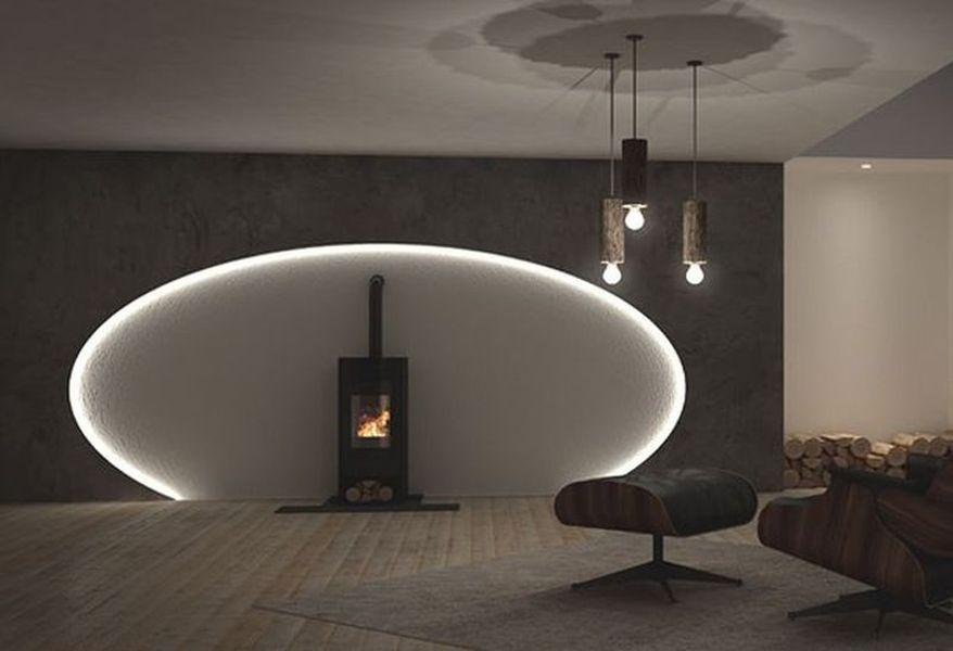 Wohnideen Wandgestaltung Maler Lichteffekte für