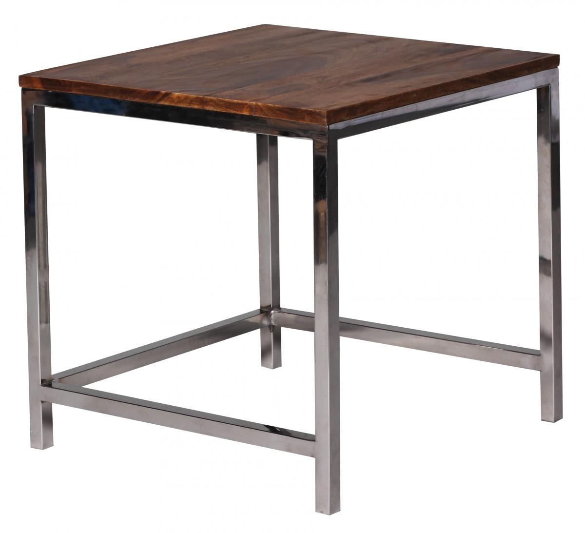WOHNLING Satztisch Massiv Holz 45x45 & 35x35 cm Couchtisch