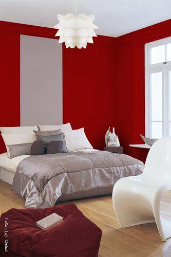Wohnzimmer Blau Grau Rot monref
