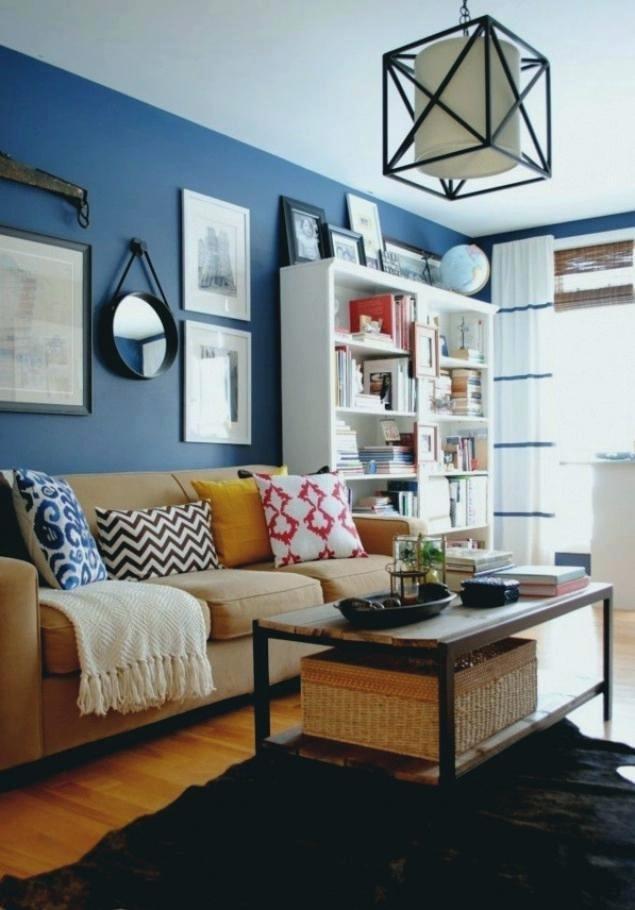 Wohnzimmer Blaue Wand Wohnzimmer Blaue Wand Orange Kamin