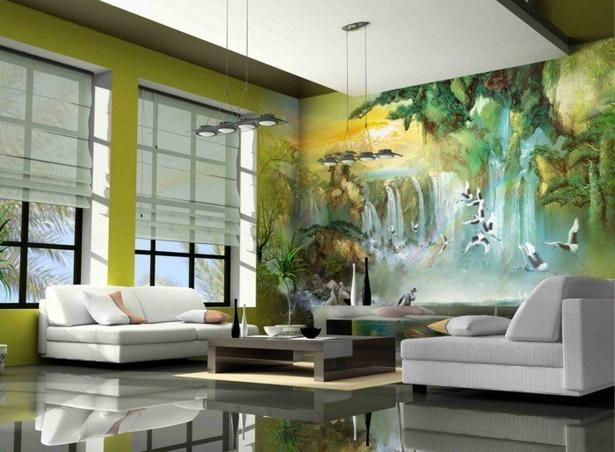 Wohnzimmer dekorieren grün