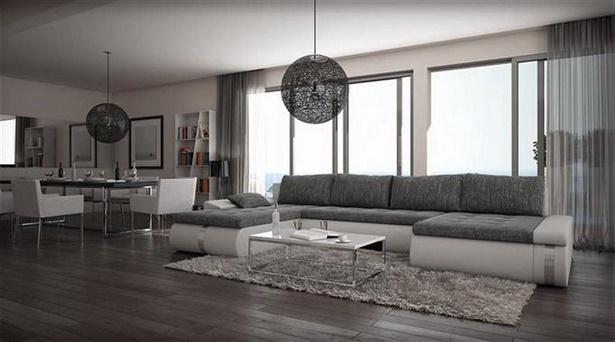 Wohnzimmer einrichten grau weiss