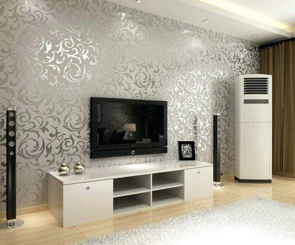 Wohnzimmer Farbton Ideen Wandgestaltung Grau Modern Rot