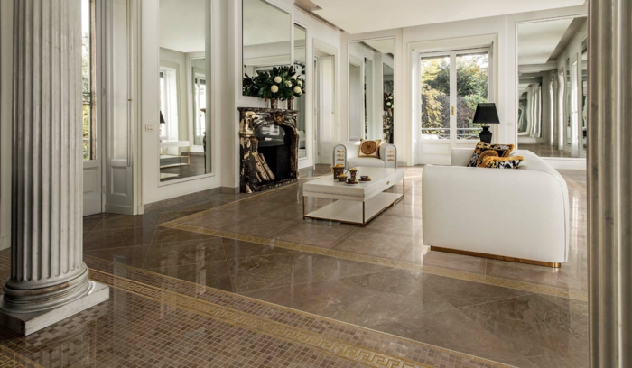 Wohnzimmer Fliesen 37 klassische und tolle Ideen für