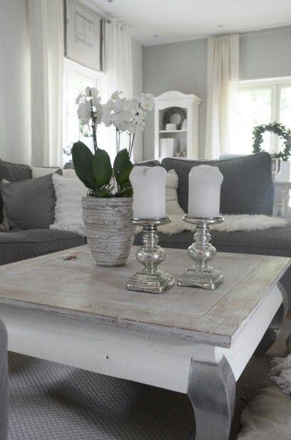 Wohnzimmer grau weiß Living Room