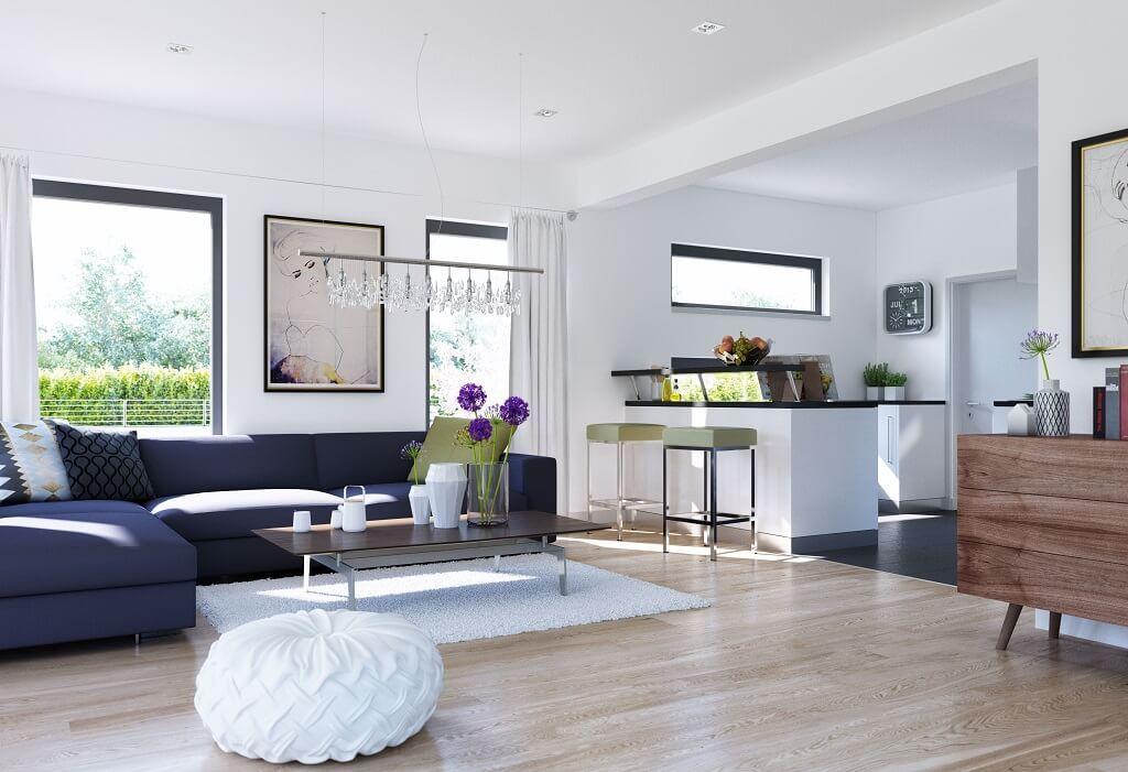 Wohnzimmer Ideen mit offener Küche Inneneinrichtung Haus