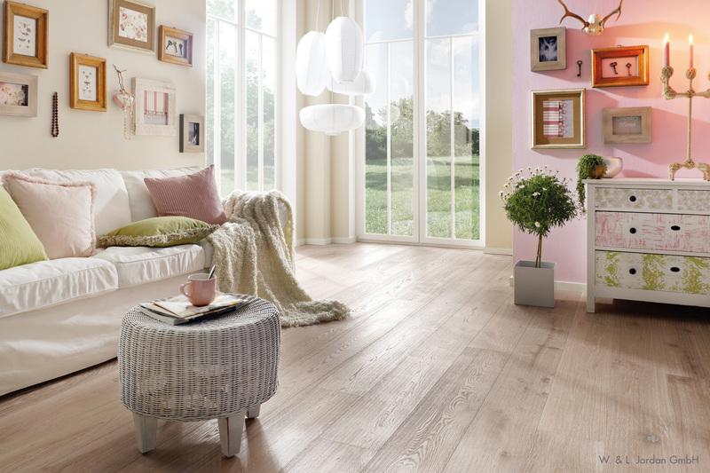 Wohnzimmer in Rosa & Beige Kolorat