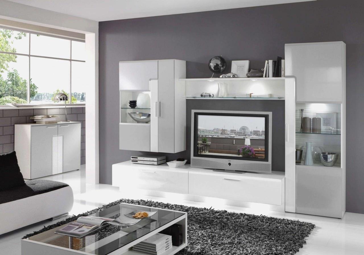 Wohnzimmer Wand Grau — 60 Große Wohnzimmer Tv Wand — Amy
