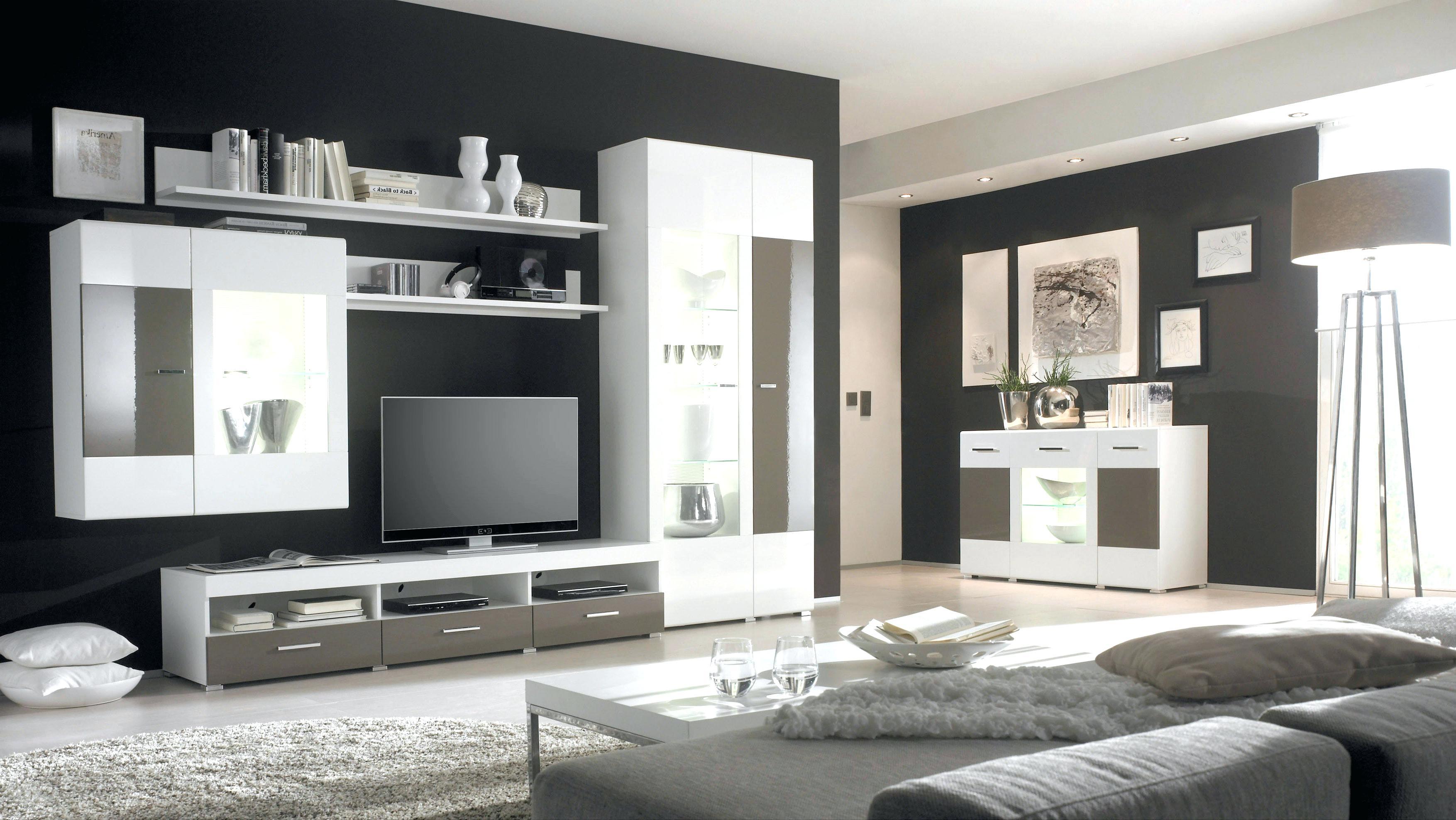 Wohnzimmer Wand Grau Streifen