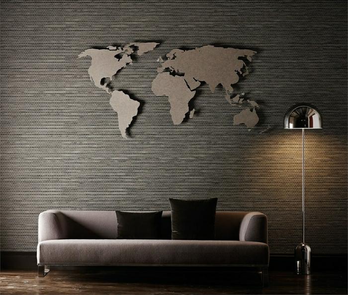 Wohnzimmer Wandgestaltung – Tapeten mit edlen Texturen