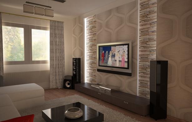 Wohnzimmer weiß braun