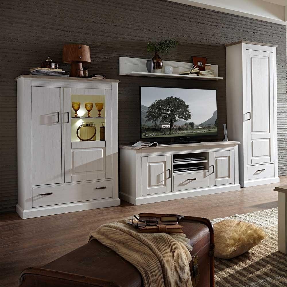 Wohnzimmer Wohnwand Rozasa im skandinavischen Design 4