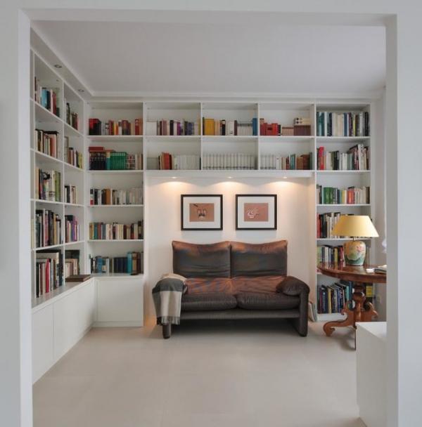 Wohnzimmerregal In Weiß – Klassisch – Wohnzimmer